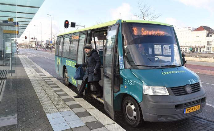 De servicebus is straks gratis voor bewoners van de wijk Griffioen met een Wmo-indicatie
