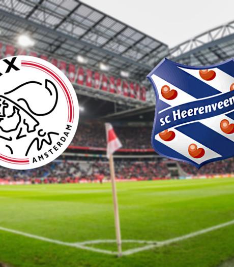 Ajax ontvangt Heerenveen in eerste duel van tweeluik