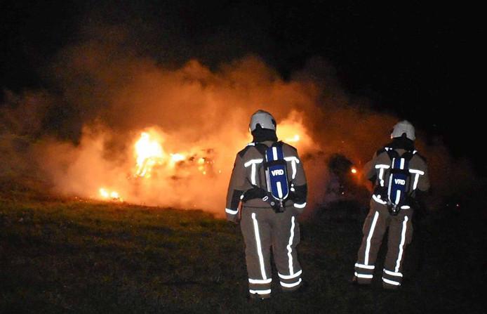 Het vuur werd geblust door de brandweer van Meppel.