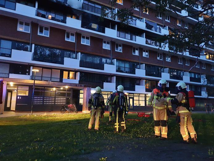 De bewoners van de flat konden niet terug naar huis.
