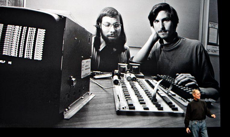 Steve Jobs en Steve Wozniak in hun beginjaren.