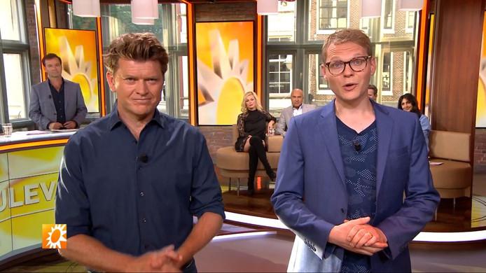 Beau van Erven Dorens (links) en Luuk Ikink (rechts) in RTL Boulevard