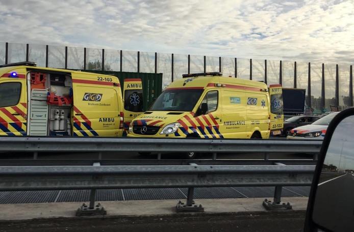Ongeluk met beknelling op A2 bij Eindhoven