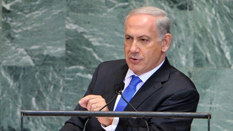 Benjamin Netanyahu, vandaag in New York. Beeld epa