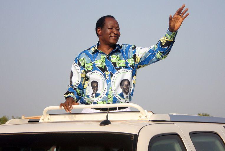 Blaise Compaoré (hier op een foto uit 2010) was tot oktober 2014 president van Burkina Faso. Na straatprotest werd hij gedwongen af te treden.