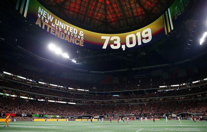 Atlanta United vestigde eind vorig jaar tegen  Portland Timbers een toeschouwersrecord in Amerika.