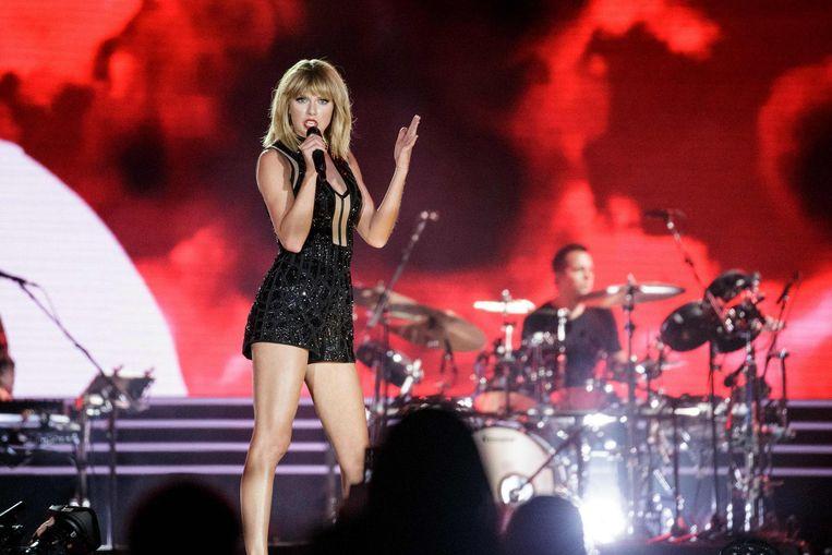 Taylor Swift gaf haar enige concert van 2016 op het circuit in Austin, Texas. Beeld afp