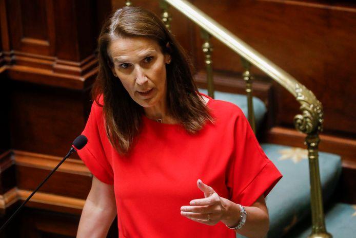 La Première ministre Sophie Wilmès à la Chambre ce jeudi après-midi.