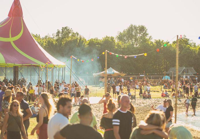 Het festivalterrein vorig jaar, bij de eerste editie.