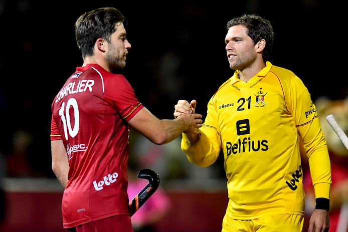 Vincent Vanasch (à droite), élu meilleur gardien du tournoi.