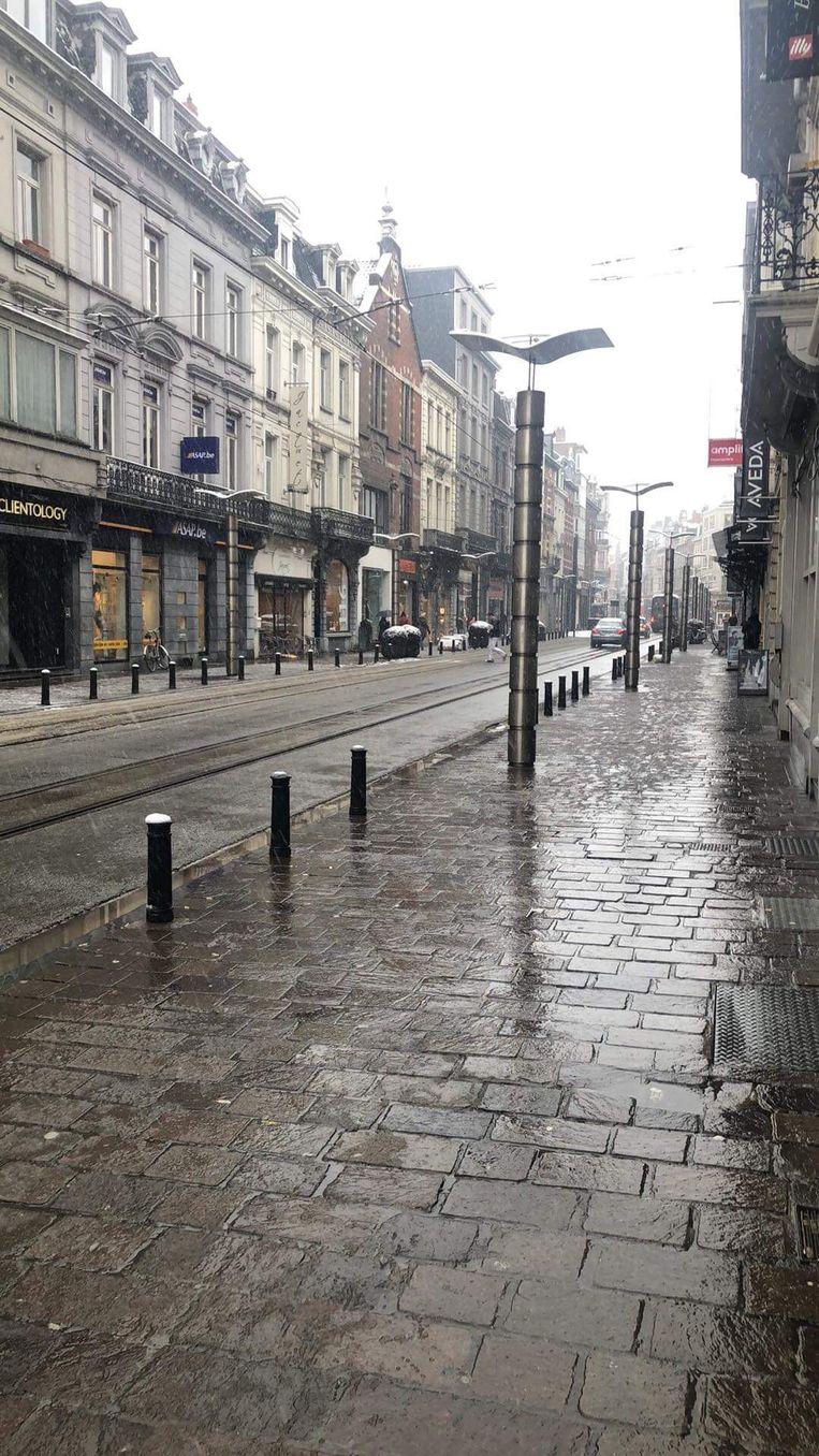 centrum Gent, geen sneeuw