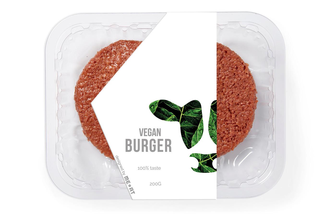 De Vegan Burger van Vion. De Boxtelse vleesgigant gaat ze in Leeuwarden produceren.