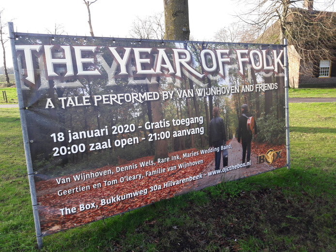 Van Wijnhoven brengt zaterdag 'The year of folk' in The Box in Hilvarenbeek.