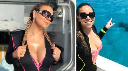 Zwoele beelden! Mariah Carey viel 12 kilo af en showt vormen in strakke wetsuit