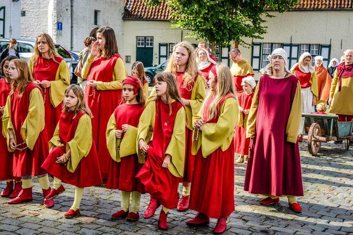 De Blindekensprocessie trok al voor de 715de keer door de Brugse binnenstad.