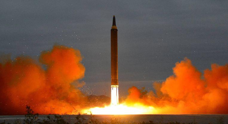 Noord-Koreaanse raketlancering in augustus van vorig  jaar.