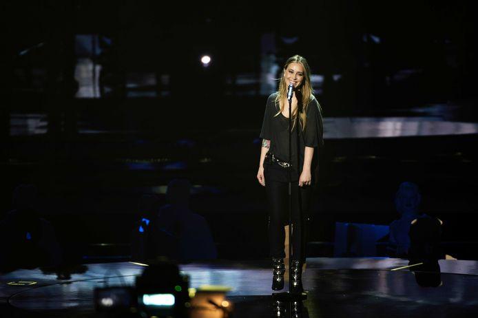 MALMO - Anouk zingt het nummer 'Birds' in 2013 tijdens de repetitie voor het Eurovisie Songfestival.
