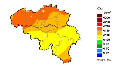 Opnieuw hoge ozonconcentraties in de lucht, pas donderdag geleidelijk beter