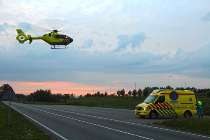 De traumahelikopter vertrok weer.