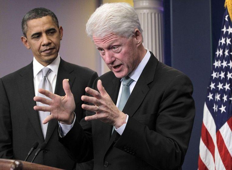Obama en Clinton op een archieffoto uit 2010. Beeld ap