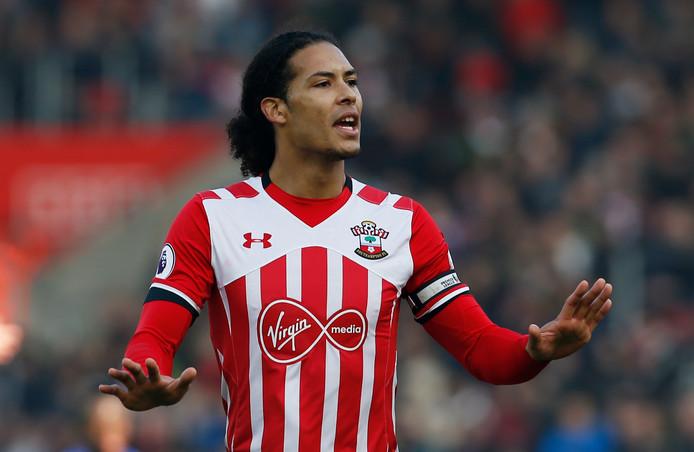 Virgil van Dijk in het shirt van Southampton.