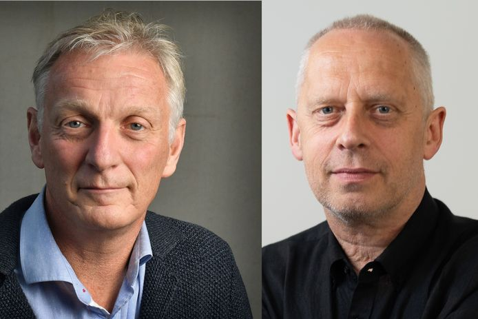 Rob Wissink en Teun Staal voor het debat