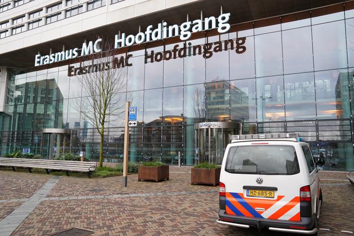 Een verdachte koffer bij het Erasmus MC wordt onderzocht