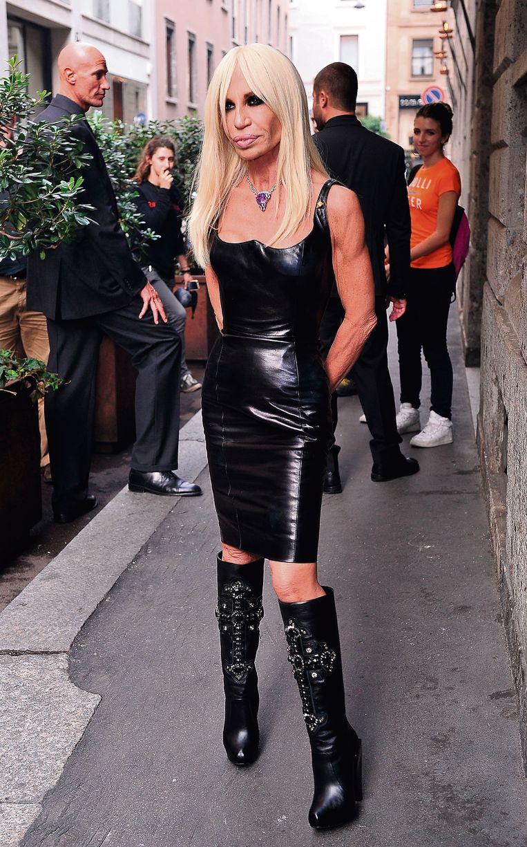Donatella Versace. Beeld Getty Images