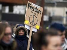 Demonstratie tegen kabinetsbeleid in het Westerpark