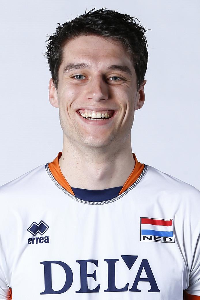 Volleyballer Frits van Gestel.