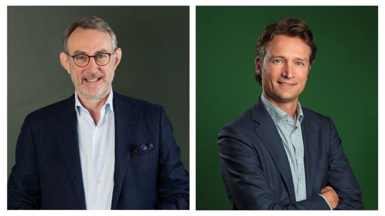 Jean-François van Boxmeer (l) en Dolf van den Brink (r). Beeld Heineken