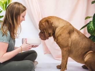"""Madice (30) ontwerpt bowls zonder plastic in, nadat hond sterft aan kanker: """"Om onze huisdieren te beschermen"""""""