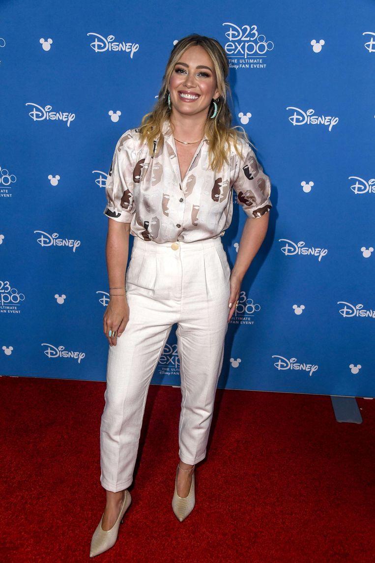 Hilary Duff op het D23 Expo fanevent in Anaheim.