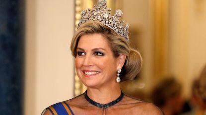 Het juweel is miljoenen waard: Koningin Máxima met eeuwenoude diamant aan tafel bij Britse Queen