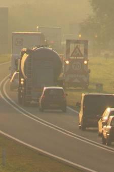 N35 tussen Enschede-Oost en de Duitse grens afgesloten door ongeval