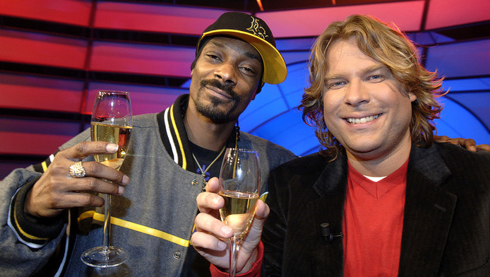Robert Jensen in 2007 met Snoop Dogg.
