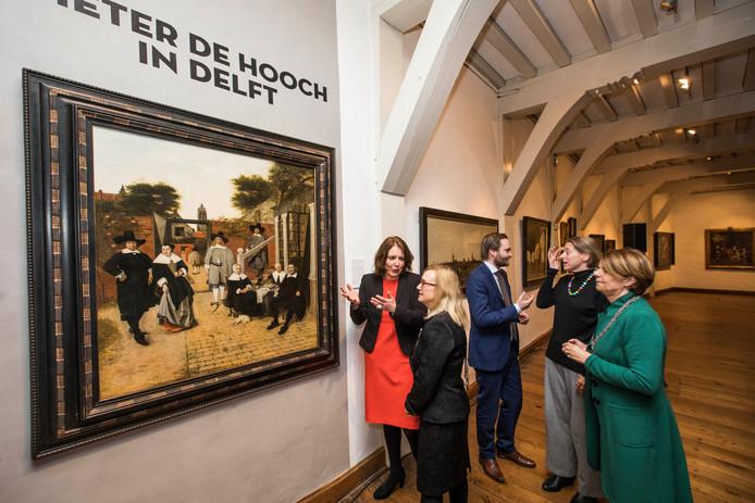 Presentatie schilderij Pieter de Hooch in Museum Prinsenhof