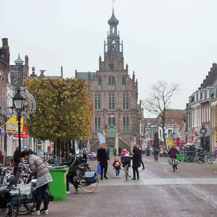 Historische stadhuis op de Markt van Culemborg.