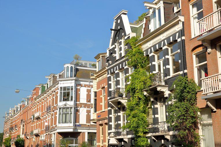 De Van Eeghenstraat in Amsterdam-Zuid. 155 buurtbewoners dienden een bezwaarschrift in tegen de bouwplannen. Beeld Shutterstock