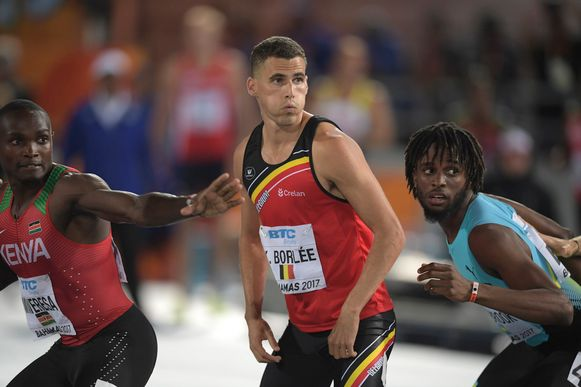 Dylan Borlée loopt de 400m