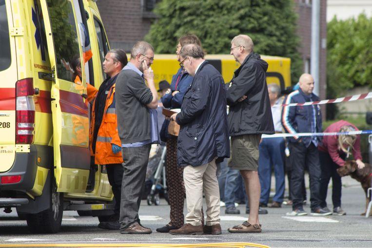 Burgemeester Christoph D'Haese was als een van de eersten bij het ongeval en was duidelijk zwaar onder de indruk.