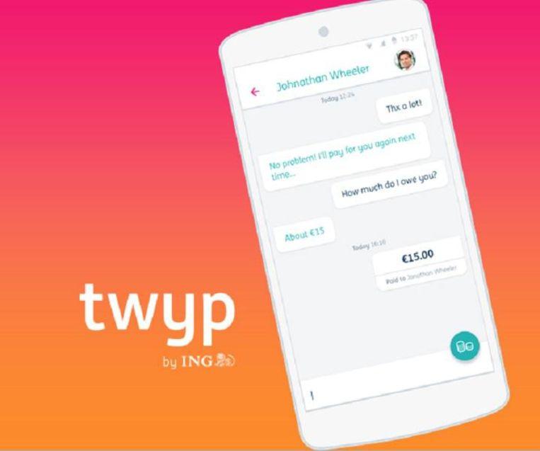 Januari 2016: ING komt met Twyp, waarmee geld overgemaakt kan worden naar Whatsapp- en SMS-contacten. Beeld