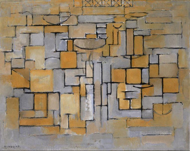Piet Mondriaan, Schilderij No. II /Compositie No. XV/Compositie 4, 1913. Beeld Foto Stedelijk Museum Amsterdam