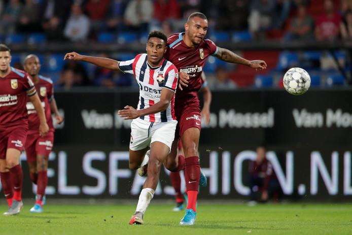 Dries Saddiki speelde een goede wedstrijd voor Willem II.