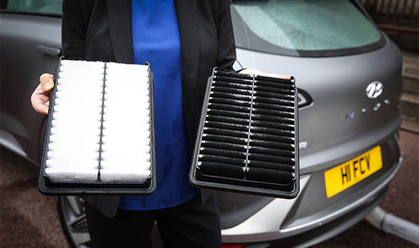 De filters in de Hyundai Nexo.