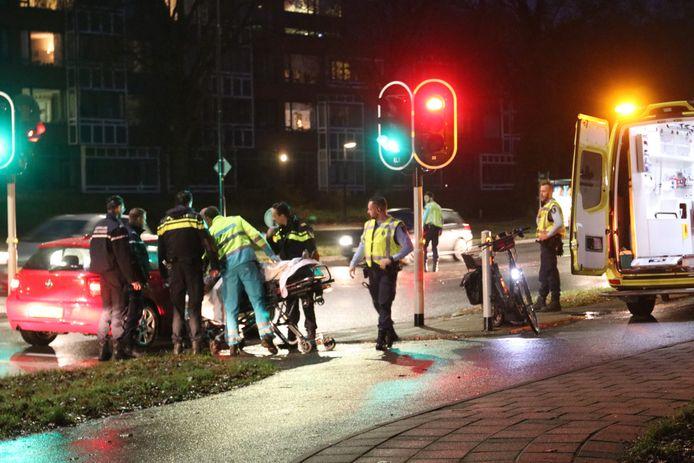 Bij het ongeluk van vanmorgen raakte een fietsster gewond.