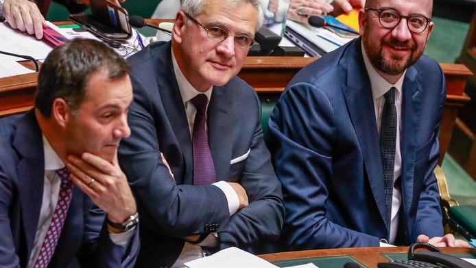 Alexander De Croo, Kris Peeters et Charles Michel