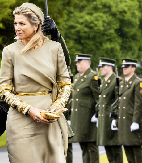 Máxima kijkt tijdens staatsbezoek Ierland een tikkeltje hulpeloos rond