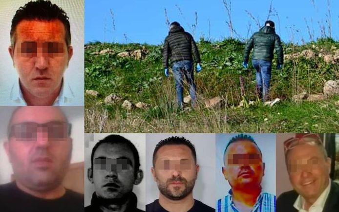 Enkele van de slachtoffers en verdachten in de maffiaoorlog.