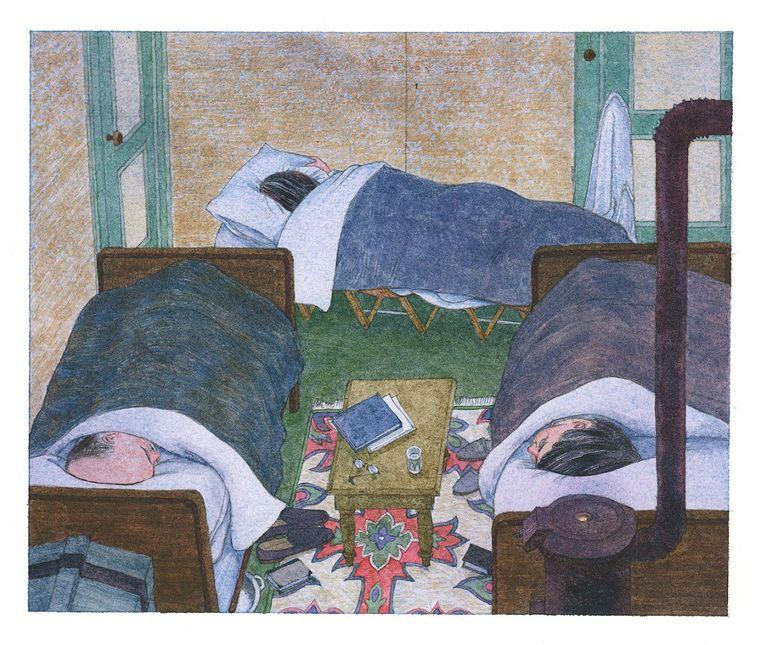 Otto, Edith en Margot Frank. Beeld Anne Frank Stichting/Huck Scarry